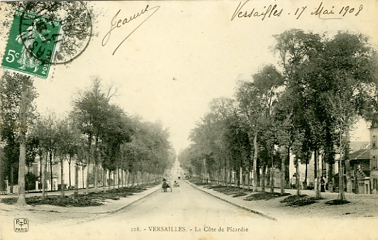 La longue côte de Picardie, prolongement de l'avenue de Saint Cloud.